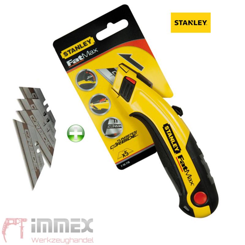 Stanley Fatmax Teppich Messer Cuttermesser mit 5 Carbide