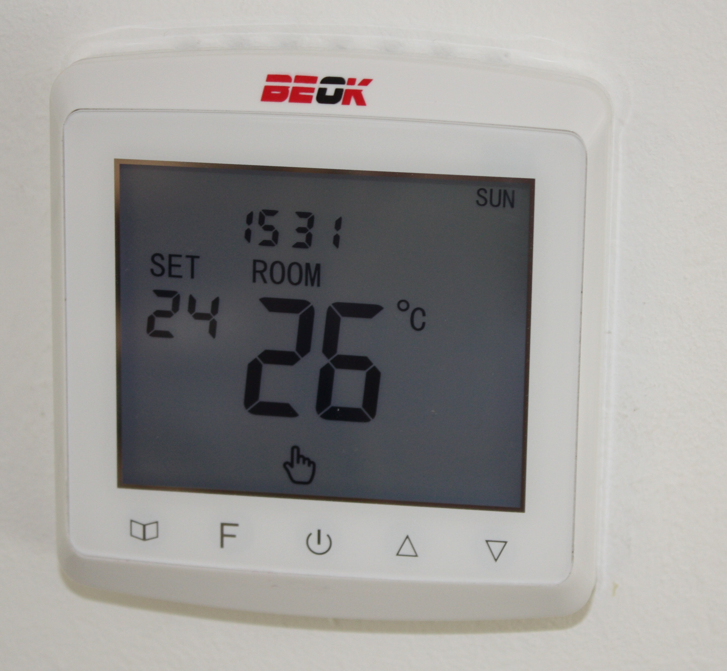 raumthermostat digital unterputz thermostat f r. Black Bedroom Furniture Sets. Home Design Ideas