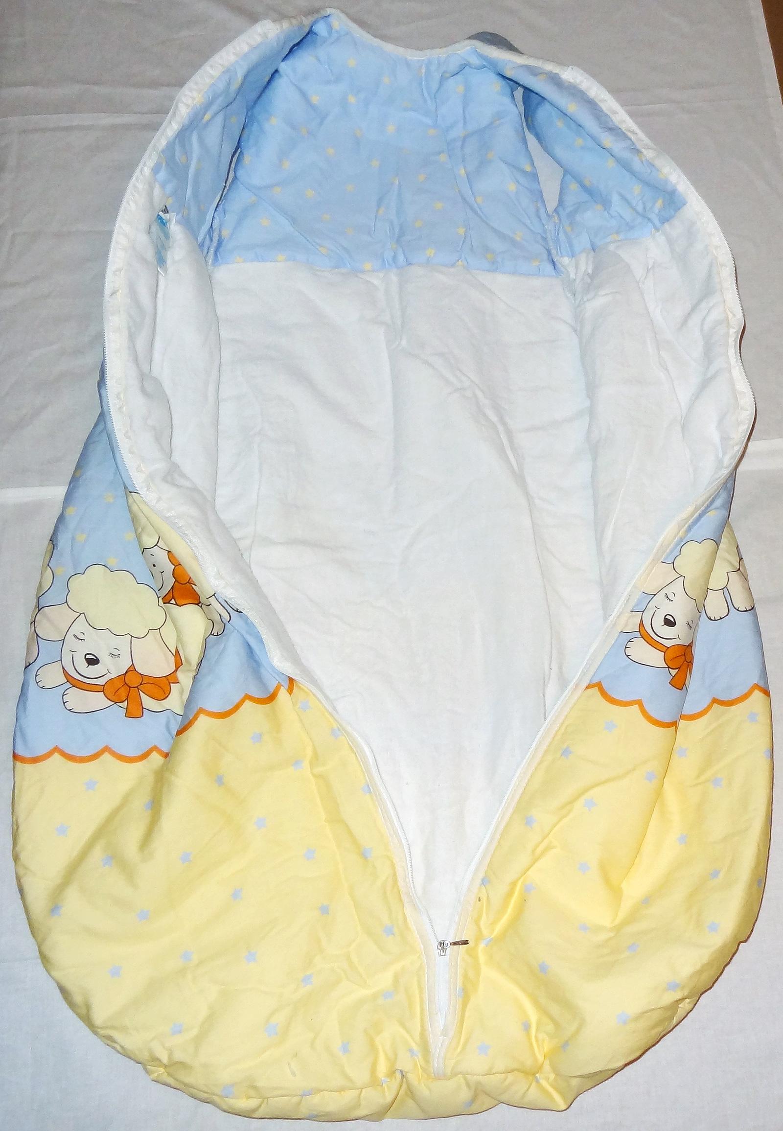 alvi baby schlafsack herbst kugel gr e 110 molton blau gelb mit motiv warm ebay. Black Bedroom Furniture Sets. Home Design Ideas