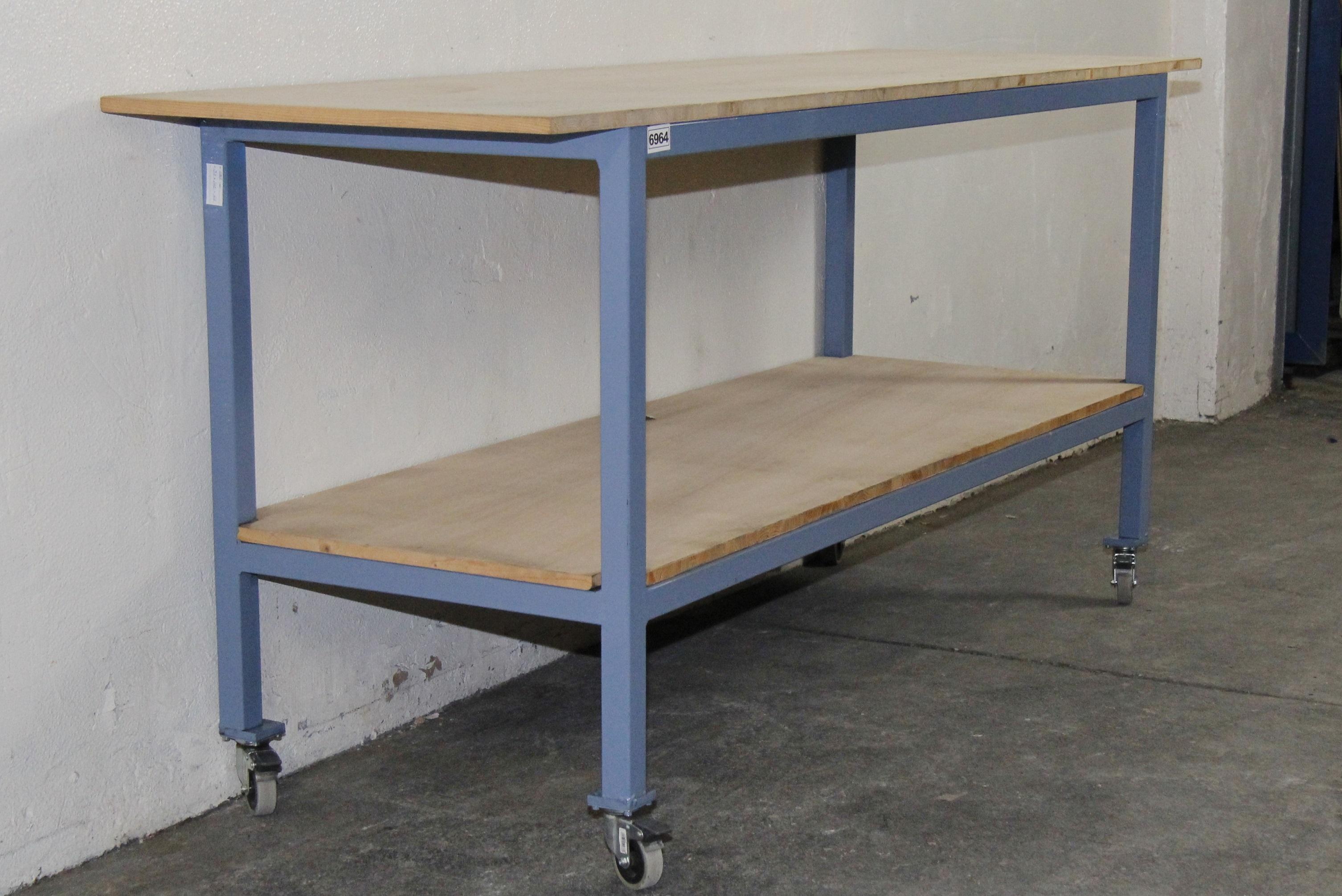 Arbeitstisch Rollbar werktisch rollbar werkbank arbeitstisch 93x205x63 6964 ebay