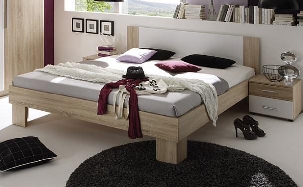 Bettanlage martina bettgestell nachtkommoden bett - Bett mit seitenwand ...
