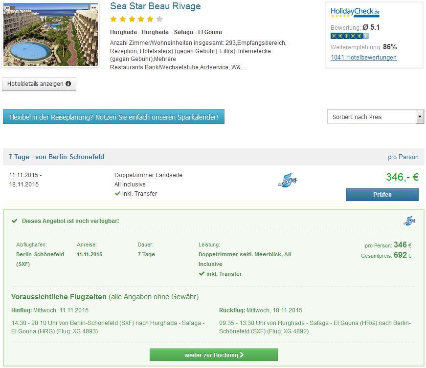 Ägypten: 7 Tage im 4* Hotel mit All Inclusive nur 346€ mit Flügen & Transfer