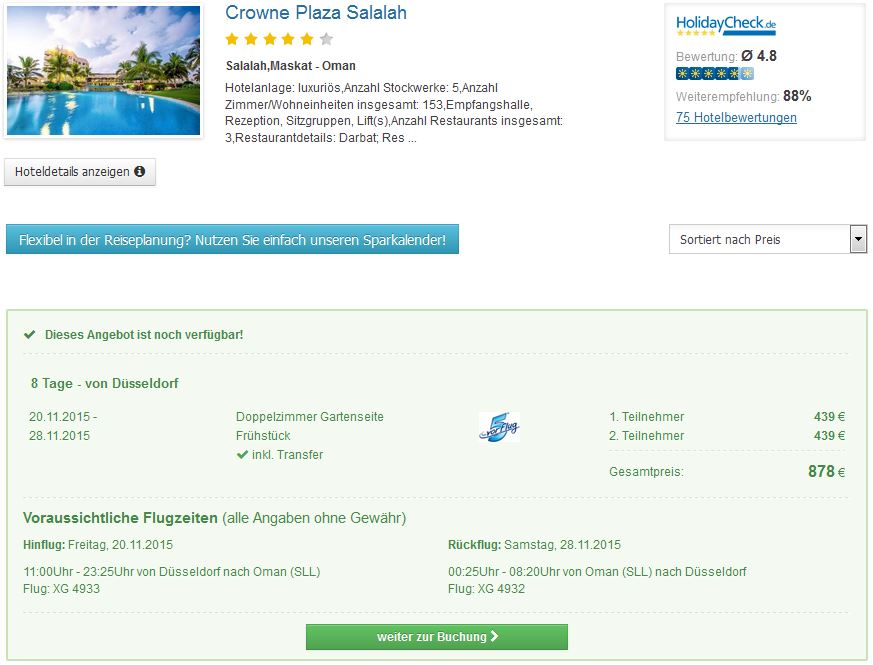 8 Tage Oman im 5* Crown Plaza Hotel mit Frühstück schon für 439€ inkl. Flügen & Transfer