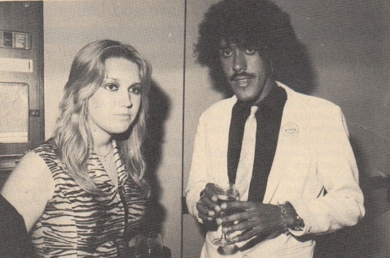 The runaways and joan jett vicki blue with phil lynott of thin lizzy