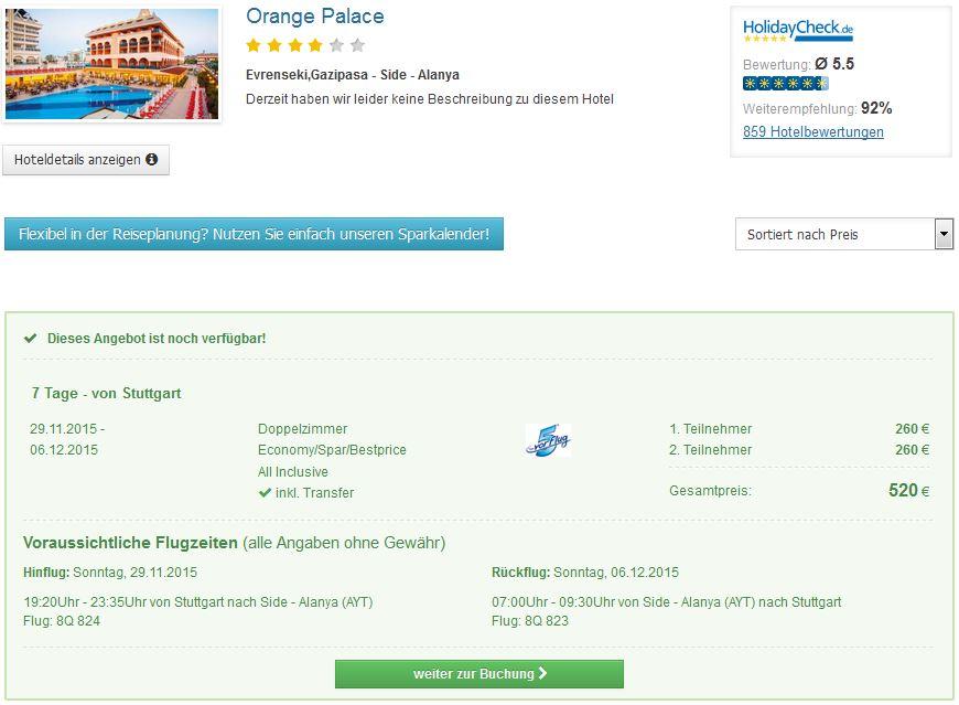 7 Tage im Top 5* Hotel Orange Palace & Spa mit All Inclusive schon für 279€ inkl. Flügen & Transfer