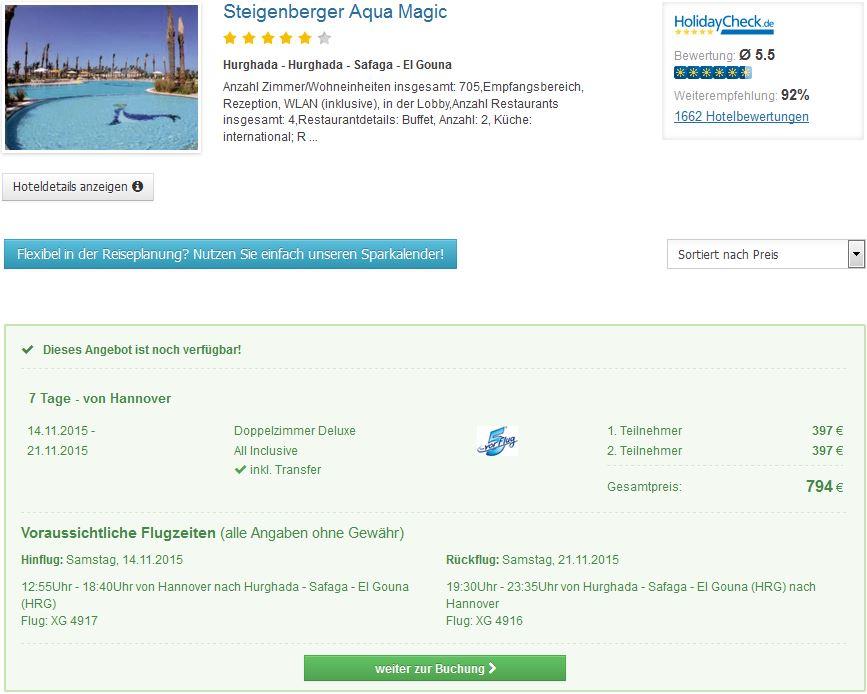 7 Tage im 5* Hotel schon mit All Inclusive, Flügen & Transfer für 397€