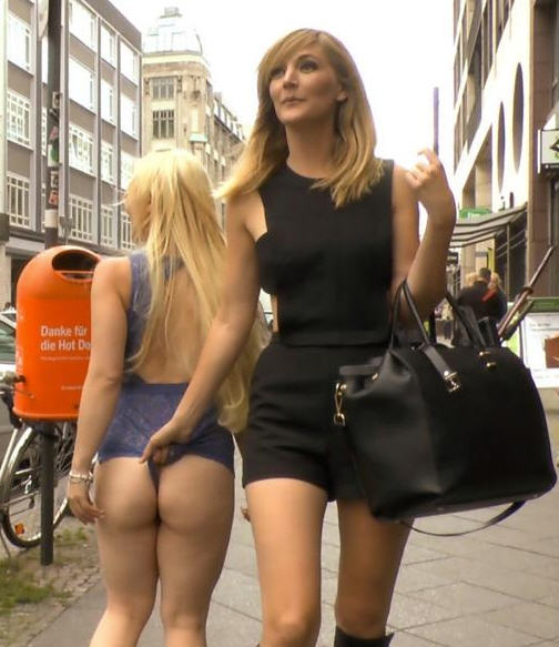 Public Disgrace - Mona Wales, Conny Dachs, Celina Davis - Busty Blonde Piece of Filth Begs to be Treated Like Trash 720p WebRip (2015)