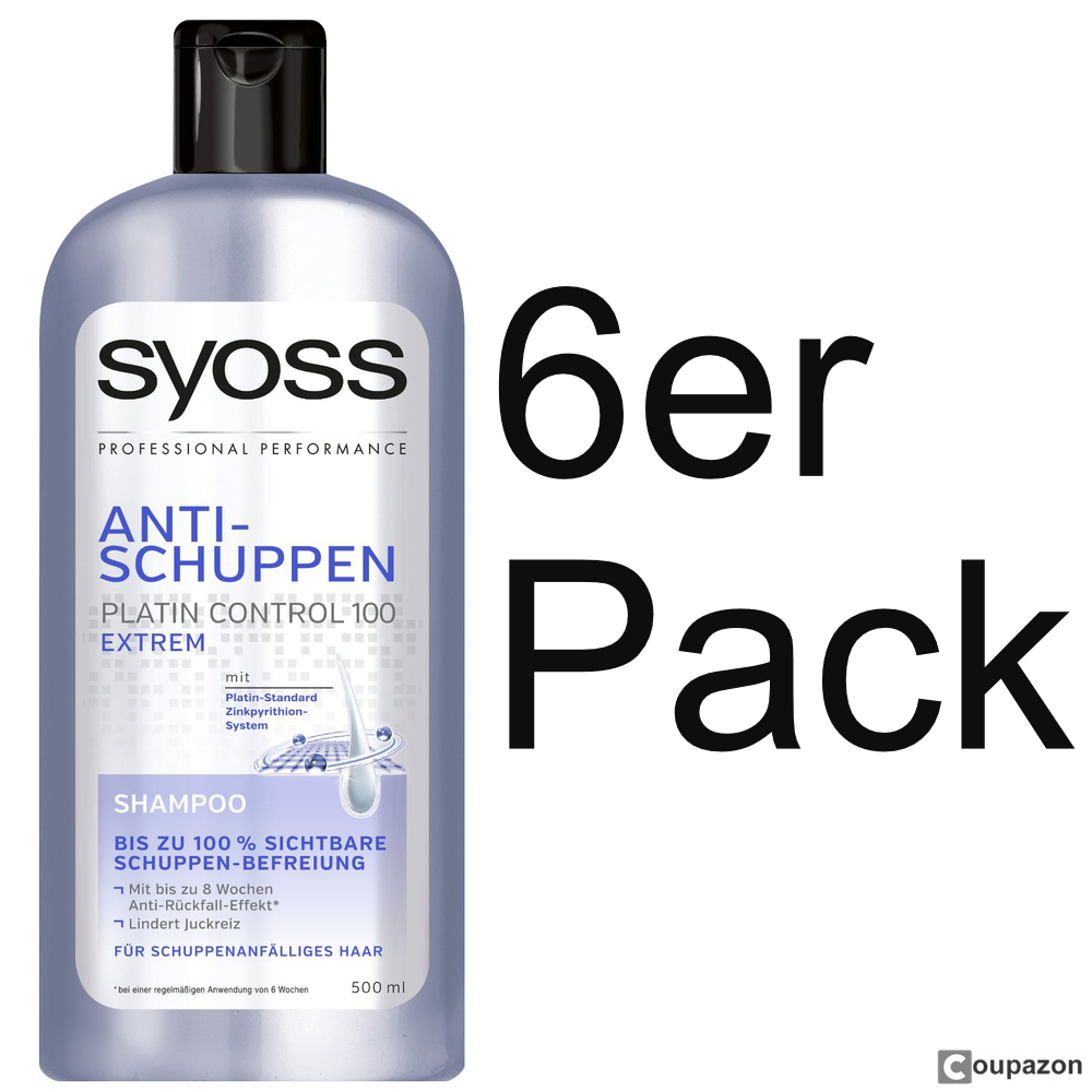 syoss anti schuppen shampoo 6er pack 6 x 500 ml ebay. Black Bedroom Furniture Sets. Home Design Ideas
