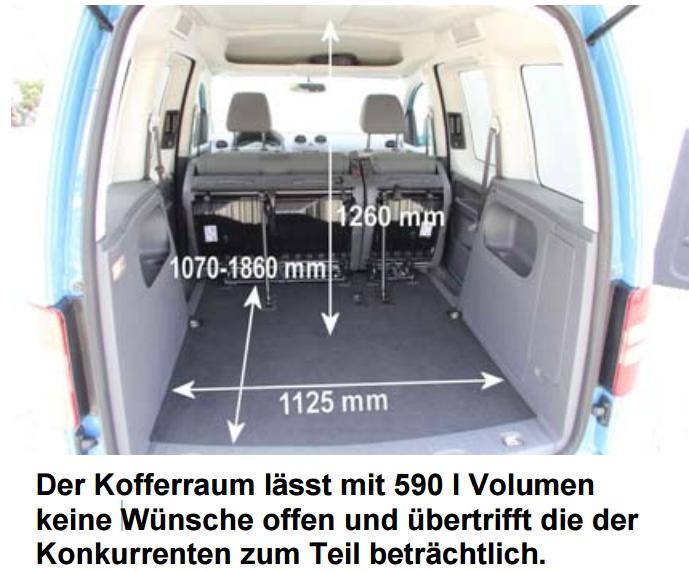 Ford Transit Connect Kofferraum Maße Wagen Galerie