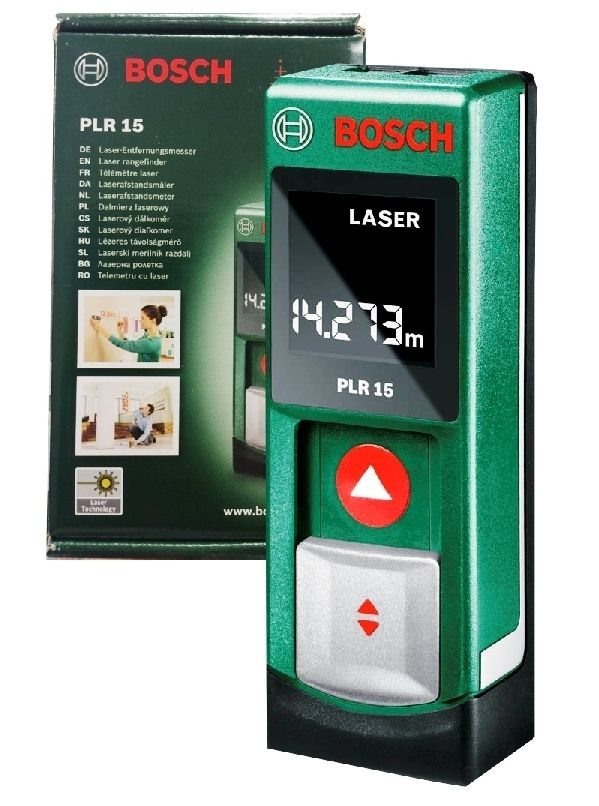 bosch plr 15 laser distanzmessger t model 2016 perfektes geschenk neu ovp ebay. Black Bedroom Furniture Sets. Home Design Ideas