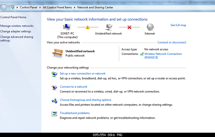 Cara Menghilangkan Unidentified Network Pada Windows 7