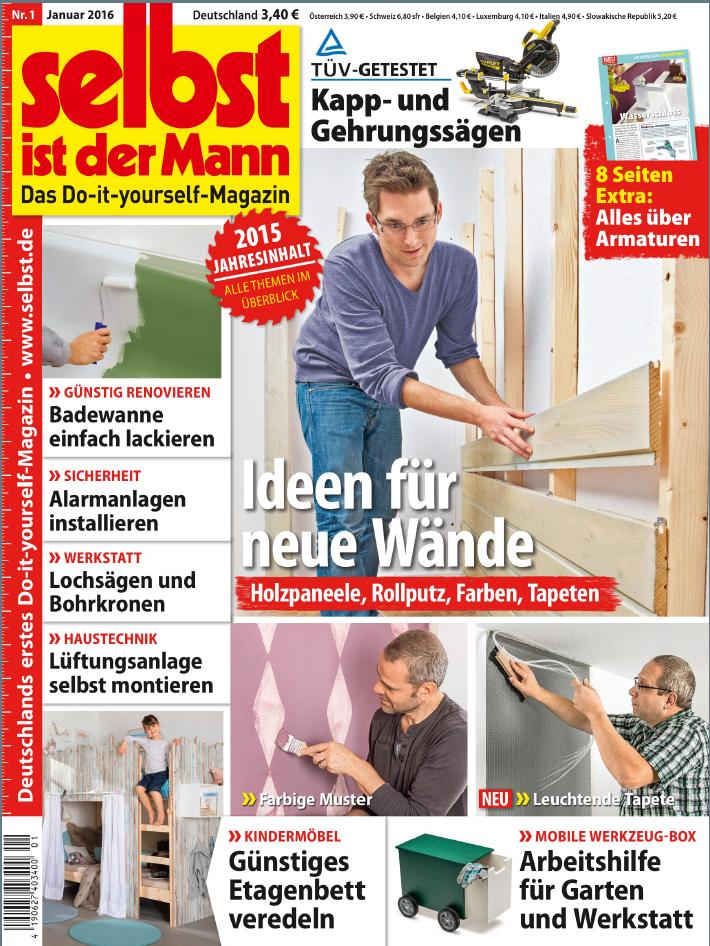ebook selbst ist der mann heimwerkermagazin 01 2016 kostenlose pdf mobi und epub. Black Bedroom Furniture Sets. Home Design Ideas