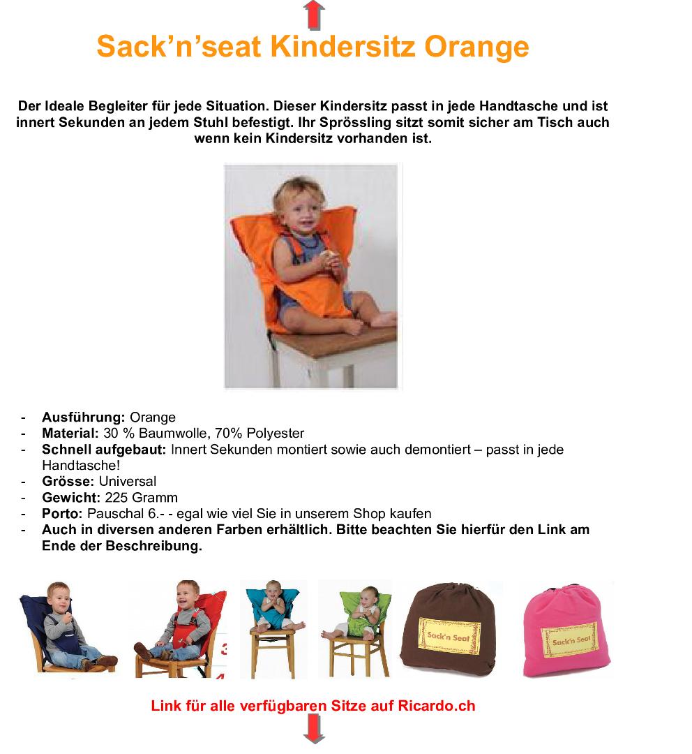trip trap f unterwegs hochstuhl orange in illnau kaufen bei. Black Bedroom Furniture Sets. Home Design Ideas
