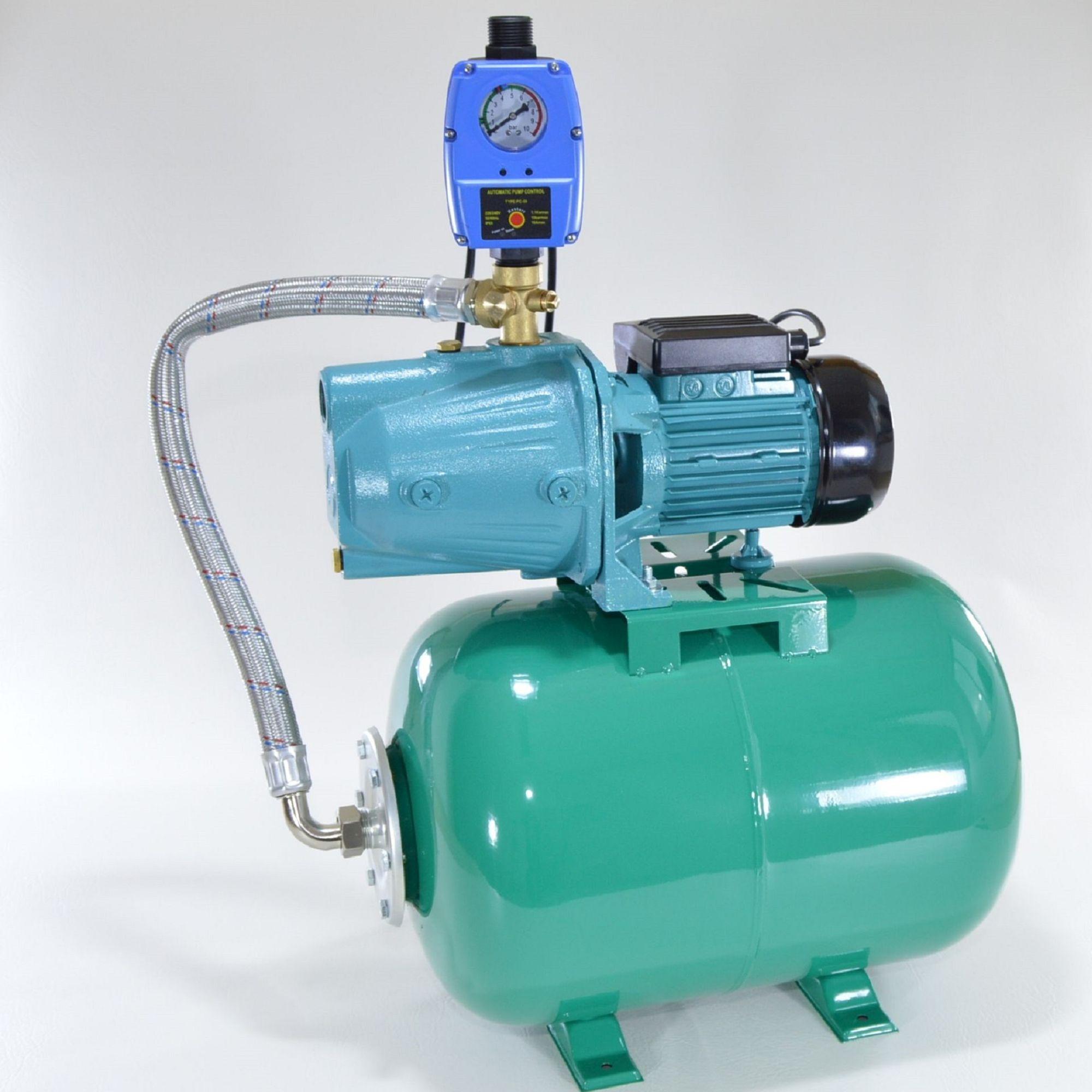 profi hauswasserwerk 50 liter kessel pumpe 1100 w hauswasserautomat gartenpumpe ebay. Black Bedroom Furniture Sets. Home Design Ideas