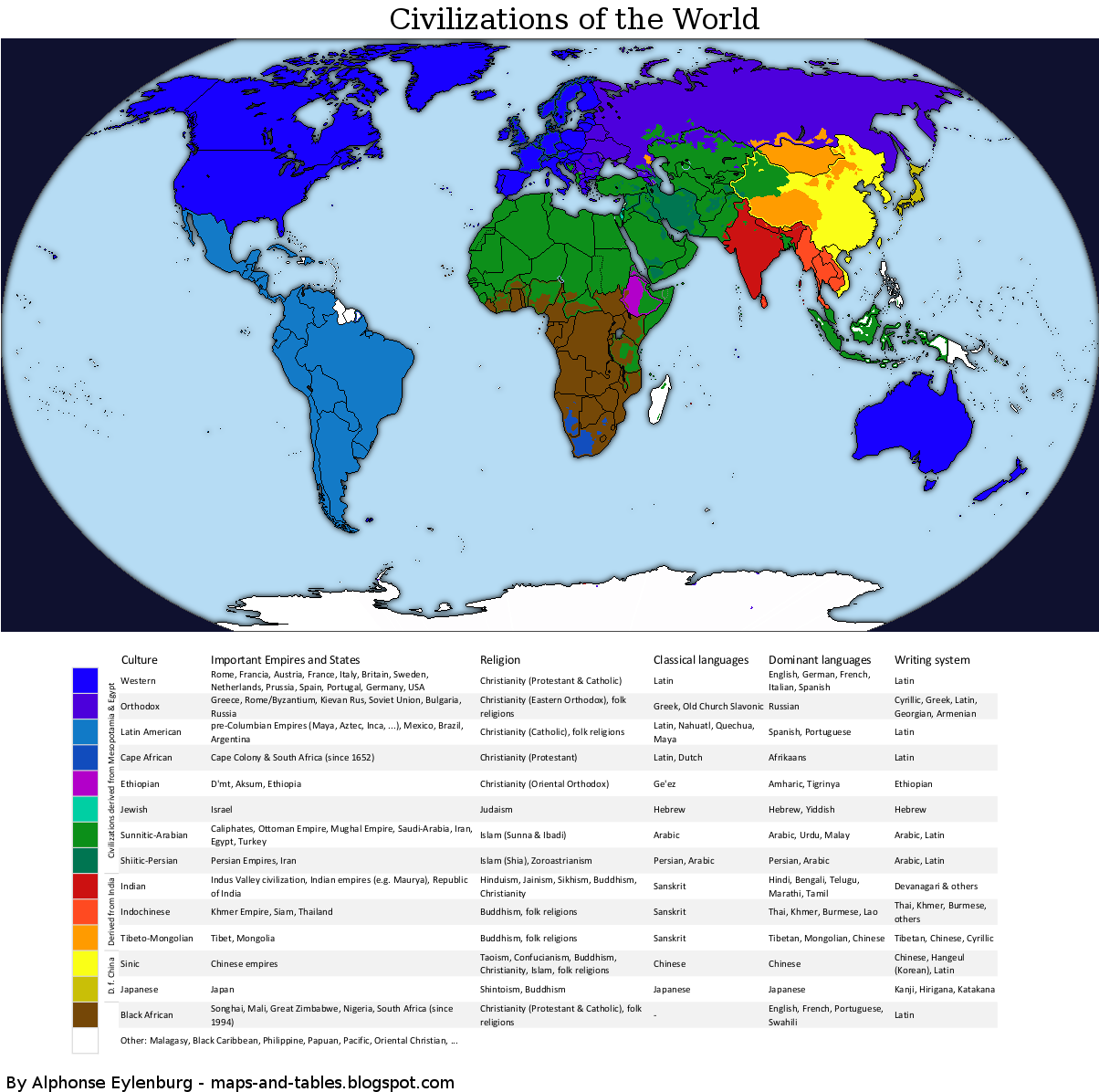 maps and tables world map of civilizations fullsize
