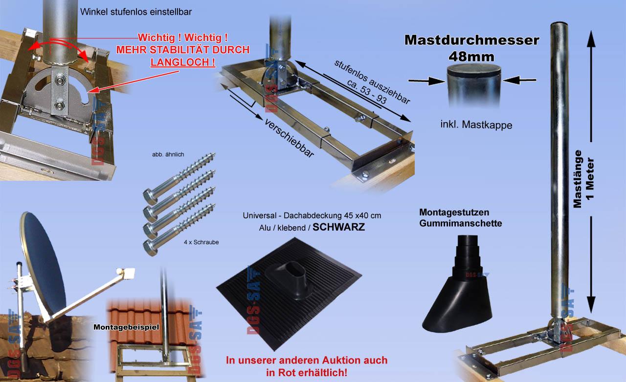 dachsparrenhalter mast dach montage pfanne sat sch ssel. Black Bedroom Furniture Sets. Home Design Ideas