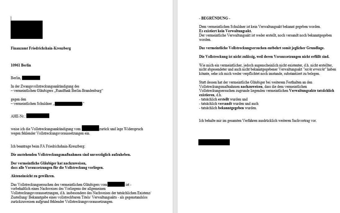 Gezrbb Vollstreckungsankündigung Durch Finanzamt Berlin