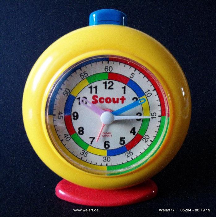 scout farbenfroher kinderwecker analog wecker alarm clock. Black Bedroom Furniture Sets. Home Design Ideas