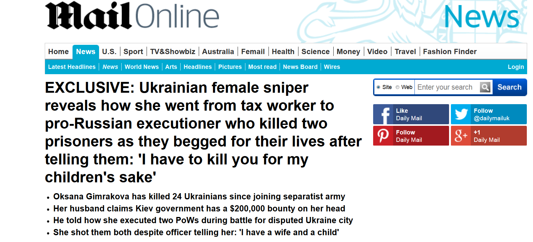 http://www.dailymail.co.uk/news/article-3124278/Ukrainian-female-sniper-reveals-went-tax-worker-pro-Russian-executioner-killed-two-prisoners-begged-lives.html
