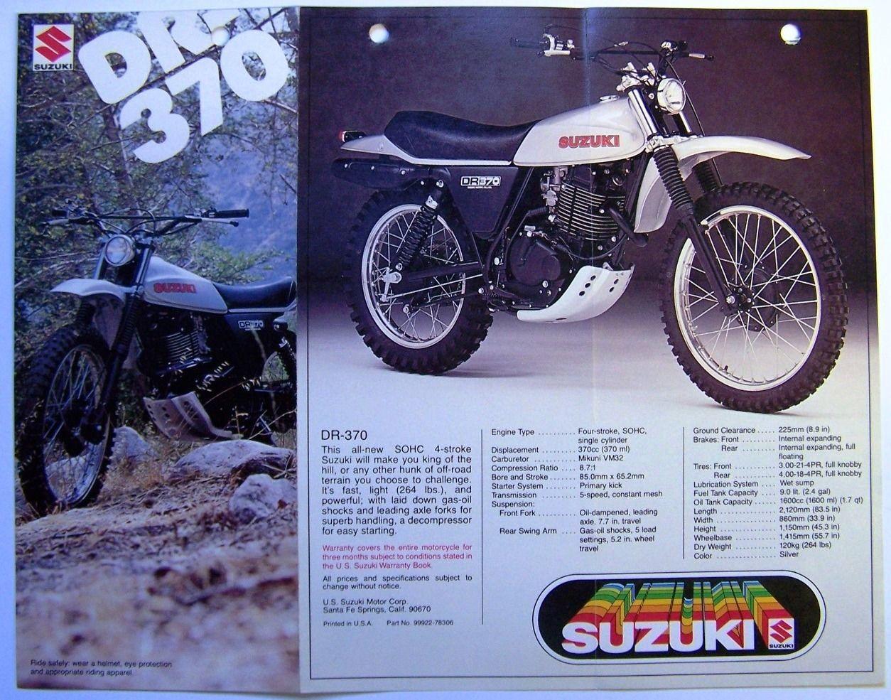 SUZUKI DR 370 - Klassische Motorräder - Offroadforen Community
