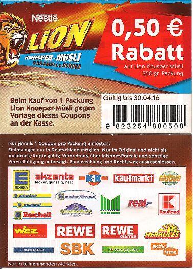coupon lebensmittel deutschland