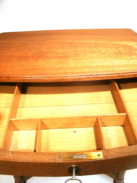 jugendstil artdeco n htisch beistelltisch konsole laptop sekret r eiche hell ebay. Black Bedroom Furniture Sets. Home Design Ideas