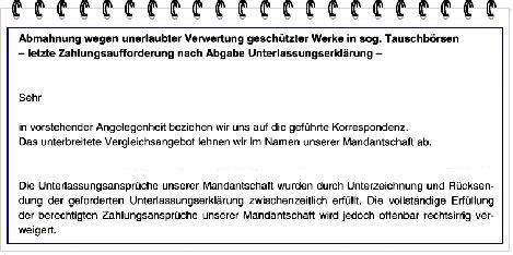 Abmahnungen Von Waldorf Frommer Rechtsanwälte Seite 261
