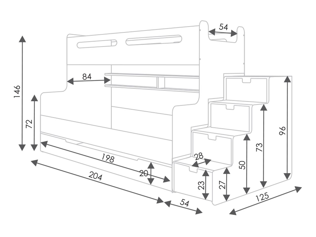 hochbett etagenbett max 2 in haag kaufen bei. Black Bedroom Furniture Sets. Home Design Ideas
