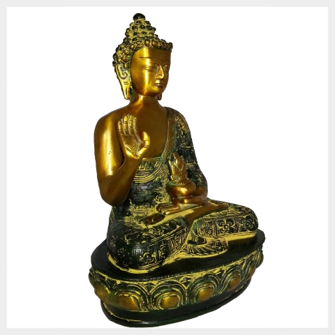 segnender buddha messing 3 farbvarianten ca 3 5 kilo handarbeit nepal tibet ebay. Black Bedroom Furniture Sets. Home Design Ideas