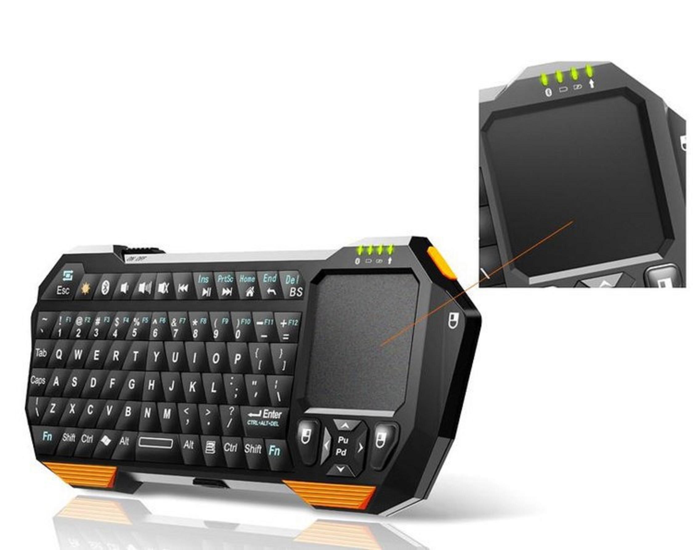 bluetooth tastatur keyboard qwerty f r smart tv fernseher lg sony samsung medion ebay. Black Bedroom Furniture Sets. Home Design Ideas