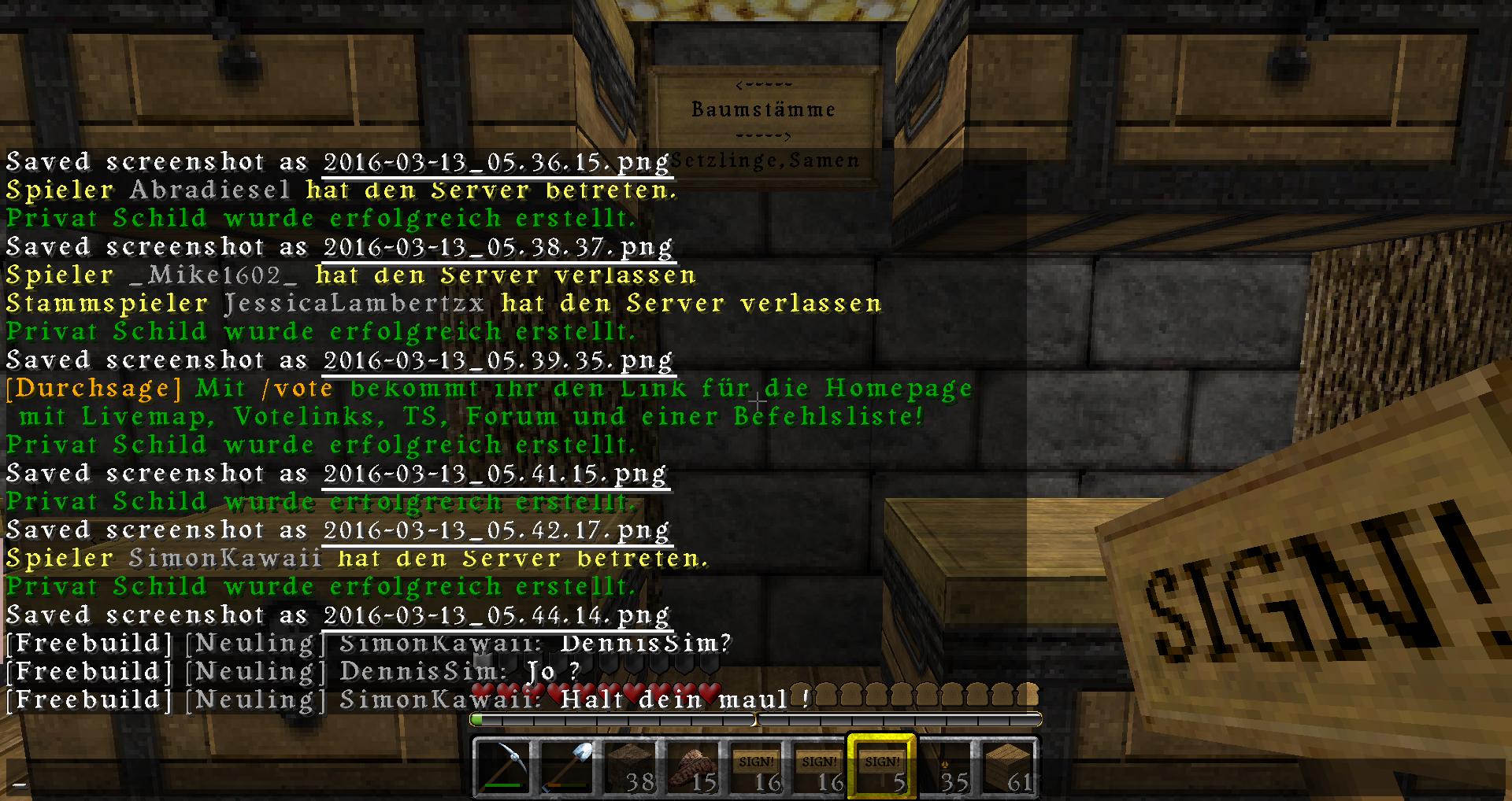 Bitte Um Bann Melden Eines Spielers Seite Freebuildmcde - Minecraft spieler entbannen