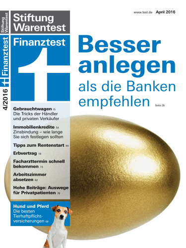 stiftung warentest finanztest zeitschriften magazine freesoft board. Black Bedroom Furniture Sets. Home Design Ideas
