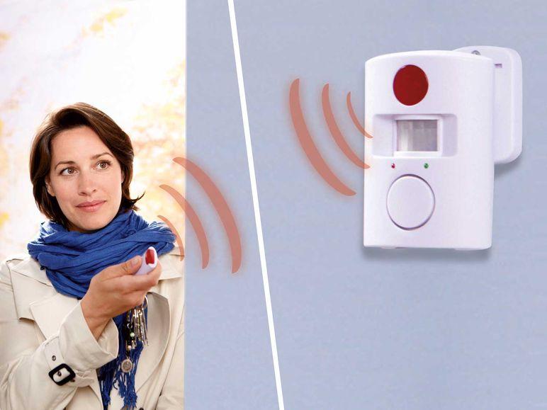 bewegungsmelder mit alarmfunktion optischer und akustischer signal sicherheit ebay. Black Bedroom Furniture Sets. Home Design Ideas