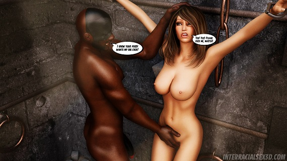 InterracialSex3D - White Pussy Dungeon
