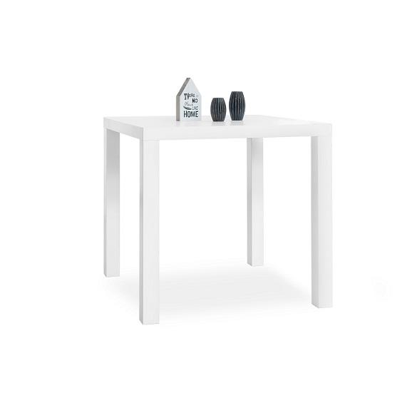 tisch primo esstisch k chentisch schreibtisch wei hochglanz 80x80 cm ebay. Black Bedroom Furniture Sets. Home Design Ideas