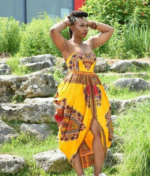 Wholesale African Dashiki Maxi Dress Fashion Qe