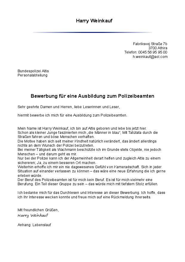 bewerbung zum polizeidienst harry weinkauf tapatalk - Bundespolizei Bewerben