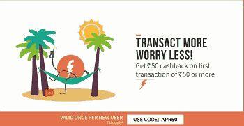 Freecharge 100% cashback