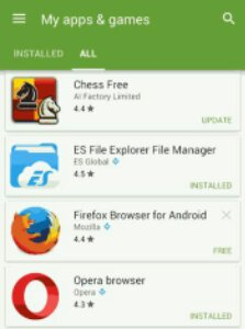Android Play store all app