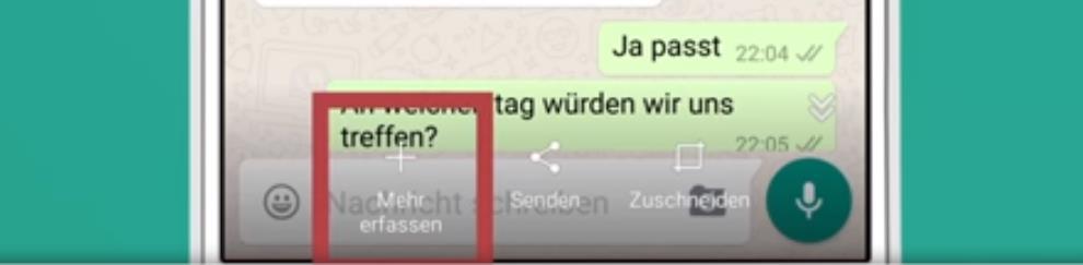 kompletten whatsapp chat verschicken