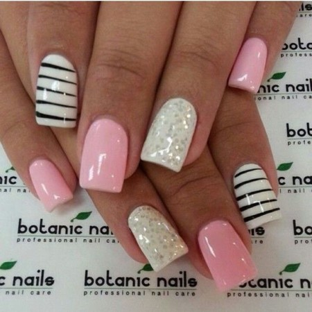 acrylic nail art easy stepstep tutorial  fashion 2d