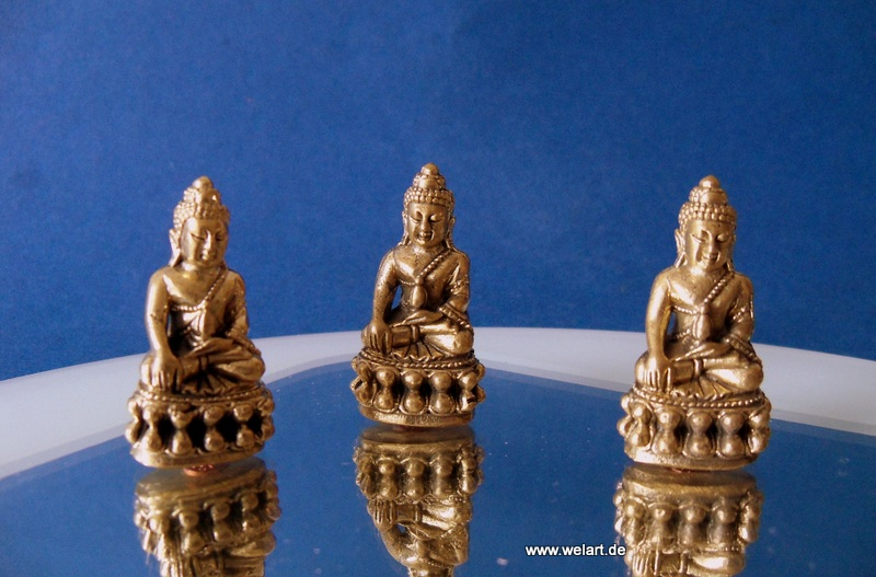 3 x thailand buddha figur statue 32 mm deko buddhafigur. Black Bedroom Furniture Sets. Home Design Ideas