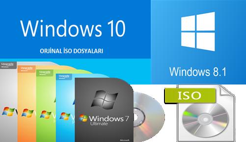 Windows 10/8.1/7 MSDN Orjinal ISO 2016 [32/64Bit] EN-TR