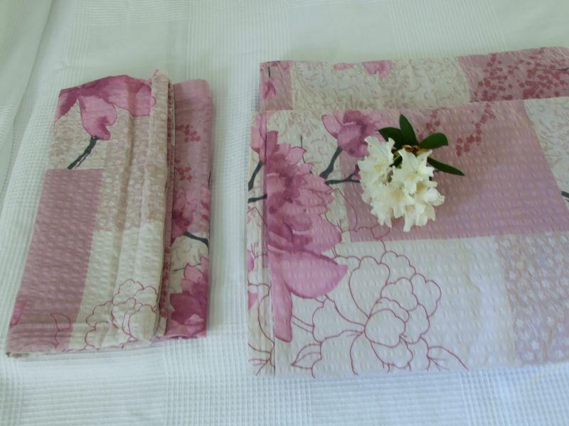 bettw sche 4 teilig floral blumen shabby chic baumwolle bw. Black Bedroom Furniture Sets. Home Design Ideas