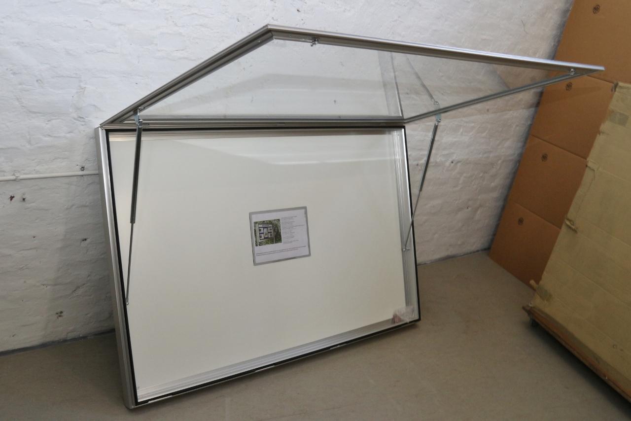 alu schaukasten infokasten f r innen und au en 103x160cm t80mm 7637 ebay. Black Bedroom Furniture Sets. Home Design Ideas