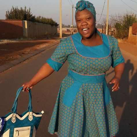 South African Sotho Shweshwe Dresses Fashion Qe