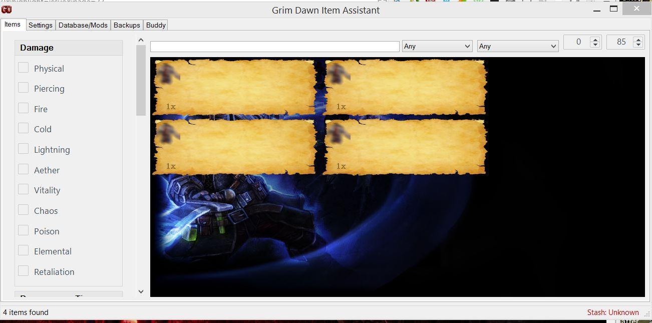 Grim Dawn Forums Tool Grim Dawn Item Assistant - mandegar info