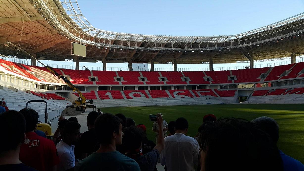 Eskişehir taraftarının bügünkü stadyum ziyaretinden kareler: