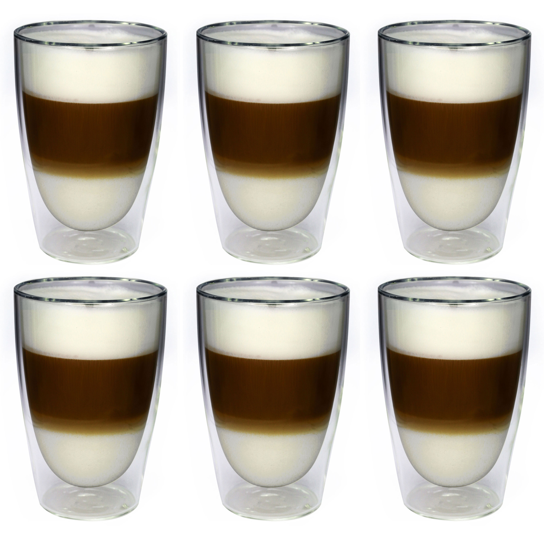 6 x thermo gl ser latte macchiato gl ser doppelwandig. Black Bedroom Furniture Sets. Home Design Ideas