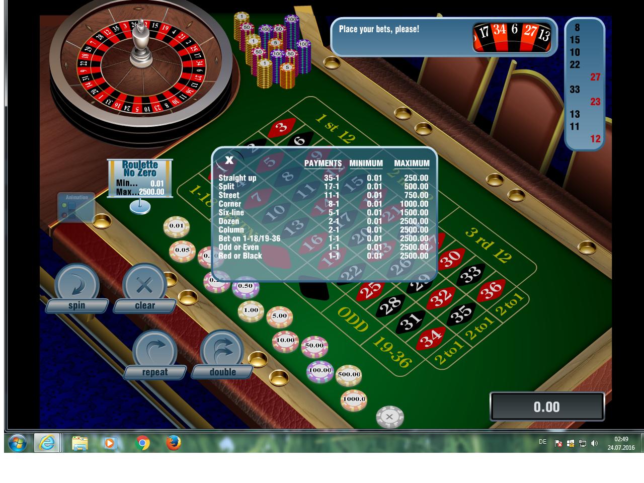 Online roulette 5 cent